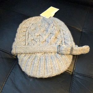 NWT Michael Kors cable knit beanie hat newsboy cap
